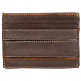 Brown Unisex Card Holder LMN_CHOLDER_301_3_BROWN_NOBC_CF