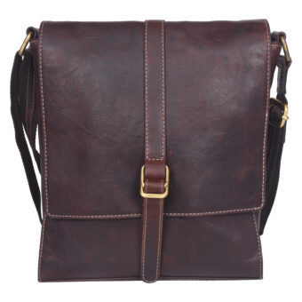 Brown Sling Bag LMN_SLING_MN_9051_CHESSNUT_BC5645