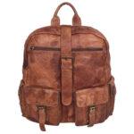 unisex tan backpack LMN_BACKPACK_NR_0020_TAN_COGNAC_BC5645