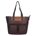 Beige Dark Brown Handbag  LMN_HANDBAG_B_181_BEIGE_DBROWN_BC5645
