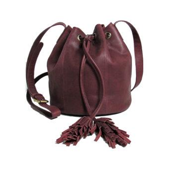Genuine Leather Women's Burgundy Sling Bag