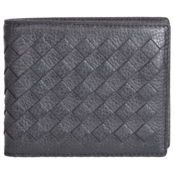 Genuine Leather Unisex Black Wallet 4 Card Slots