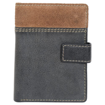 LMN Genuine Leather Black Wallet