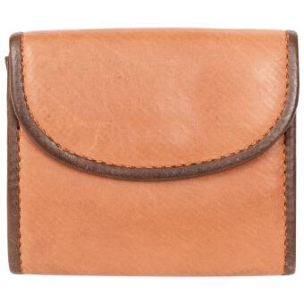 Genuine Leather Unisex Tan Coin Purse
