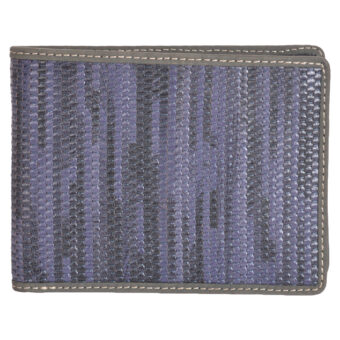 Genuine Leather Navy Blue Wallet