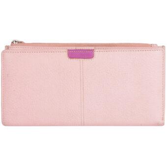 Genuine Leather Pink Women's Wallet Ladies Wallet