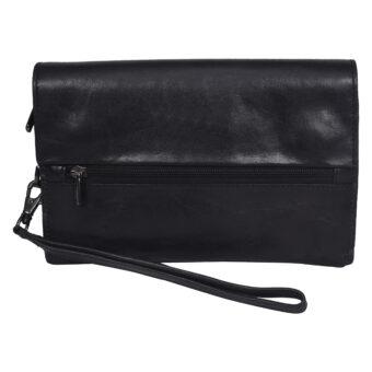 Genuine Leather Black Women's Clutch