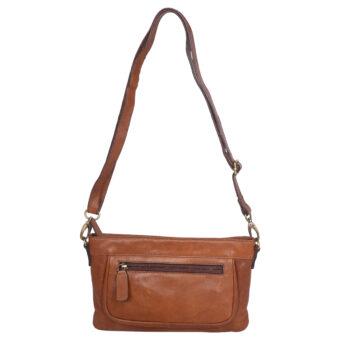 Genuine Leather Brown Tan Women's Sling Bag