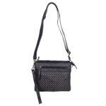 Genuine Leather black sling bag NR 0017