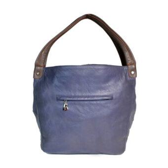 Genuine Leather Girls Blue, Grey Hobo Bag