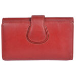 Genuine Leather Girls Red Wallet 5 Card Slots