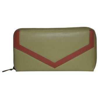 LMN Genuine Leather Yellow Orange Girls Wallet 12 Card Slots