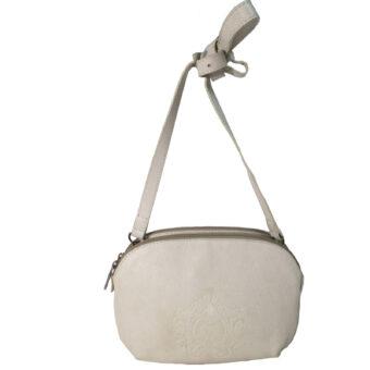 Genuine Leather White Girls Sling Bag
