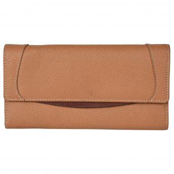 Genuine Leather Women's Tan Wallet 615420