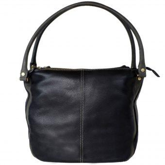 Genuine Leather Women's Black Handbag VT200