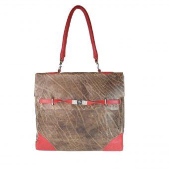 Brown Pink Shoulder Bag