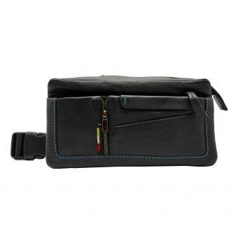 Unisex Black Belt Bag