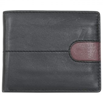 Black Burgundy Unisex Wallet