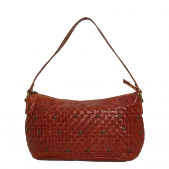 Genuine Leather Women Bordo Handbag