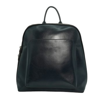 Leather Blue Backpack
