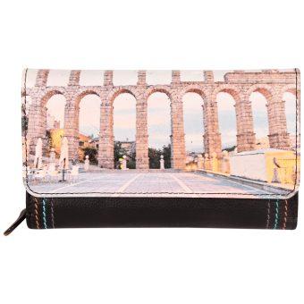 Genuine Leather Women's Black Beige Wallet